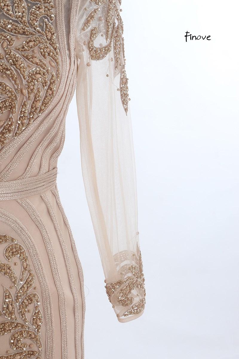 finove элегантный русалка вечерние платья длинные 2018 новый стиль с Oval изделия grain beer серый пром платье vestido де феста