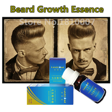 Lanthome Beard Growth oil Thicker Essence 10ml Fast hair grow products for alopecia Pubic Chest Mustache Treatment Serum For Men