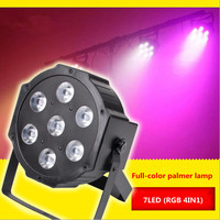 New style 7 LED full-color par light 4-in-one bright stage lamp bar KTV wedding light dyed lights