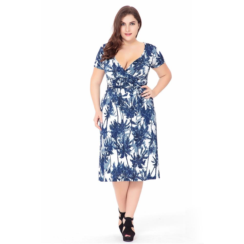 Plus size knee length maxi dress