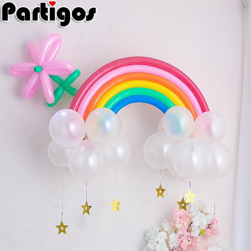 25pcs/set Latex Rainbow Balloon Decoration Wedding Wedding ...