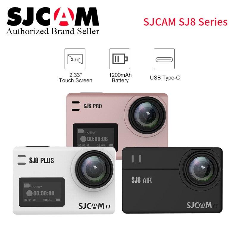 SJCAM SJ8 Pro/SJ8 Plus/SJ8 caméra d'action aérienne yi 4 K pro étanche Anti-secousse double écran tactile WiFi télécommande sport DV