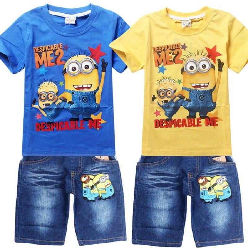 585433b17 Kids Clothes Baby Boys Clothing Children Suits Despicable Me 2 ...