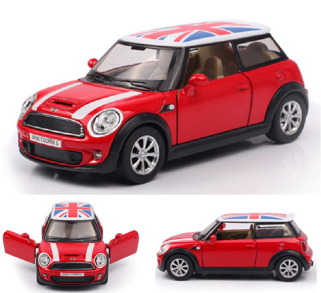 High Simulation 1 30 Scale Mini Cooper S Alloy Die Cast Car Model