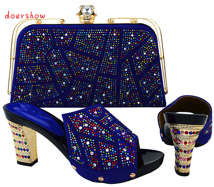 Shoes and Bag To Match Italian African Shoe and Bag Set for Party In Women Italian Matching Shoe and Bag Set doershow  HJT1-25 good selling african women shoes and bag set fashion shoes heels 9cm italian shoes and bags to match for party as1 4