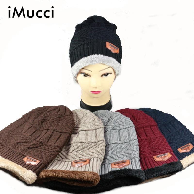 IMucci Unisex Womens Mens musim Berkemah Topi Musim Dingin Baggy Beanie Wol  Hangat Ski Topi Hot Mens Luar Berkemah Olahraga Nyaman Caps 538142b5b4