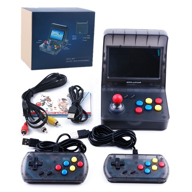 64 Bit Retro ARCADE Mini Video Game Console 4.3 Inch Built In 3000 Games Handheld Game Console Family Kids Gift Support Download