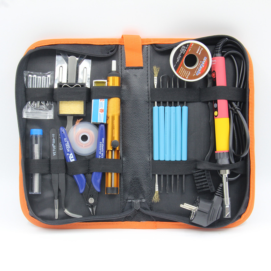 CXG E110W Electric Soldering Iron Digital LCD Adjustable NC thermostat Electric Soldering Iron Tsui Solder wire rosin Toolkit