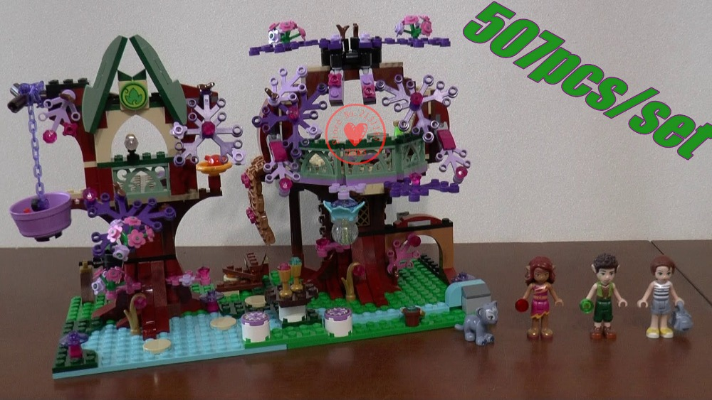 Fairy Azari Farran Aira/Naida  Emily Jones Tree House model Building Block Toys Compatible With lego kid gift set friends 2017 10415 elves azari aira naida emily jones sky castle fortress building blocks toy gift for girls compatible lepin bricks