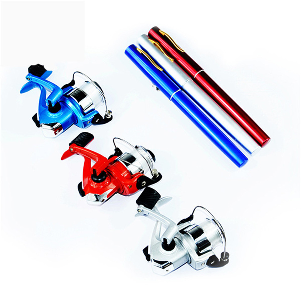High quality fishing rod and reel set alloy pocket ice for Fishing rod set