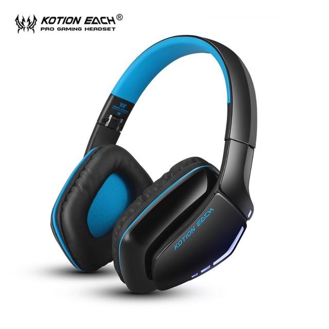 KOTION CADA Dobrável Bluetooth 4.1 Sem Fio PS4 Gaming Headset Fones De Ouvido Estéreo com Microfone para Computador Tablet