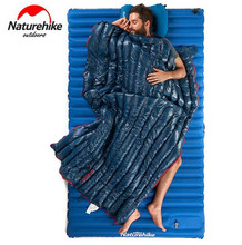 Naturehike Goose Down Sleeping Bag Adult Waterproof Travel Outdoor Camping Hiking Warm Winter Envelope Ultralight Sleeping Bag naturehike naturehike ultralight mummy sleeping bag camping goose down waterproof adult portable outdoor hiking cotton nh17g350