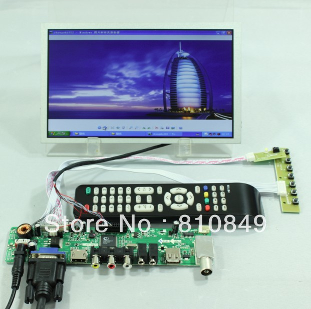 TV/HDMI/VGA/AV/USB/AUDIO LCD controller Board+8.9inch N089L6 1024*600 lcd panel lowell настенные часы lowell 11809g коллекция glass page 1