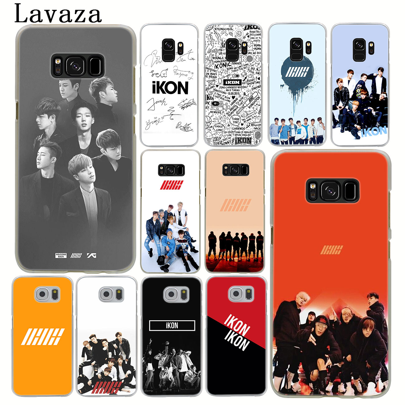 US $1 32 30% OFF|Lavaza music ikon kpop Phone Case for Samsung Galaxy A9 A8  A7 A6 Plus 2018 A5 A3 2017 2016 2015 Note 9 8 A8Plus Cover-in Half-wrapped
