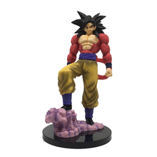 лучшая цена Fashion PVC action figure Zero EX dragon ball GT super saiyan 4 son goku model doll decoration collection figurine toys for gift
