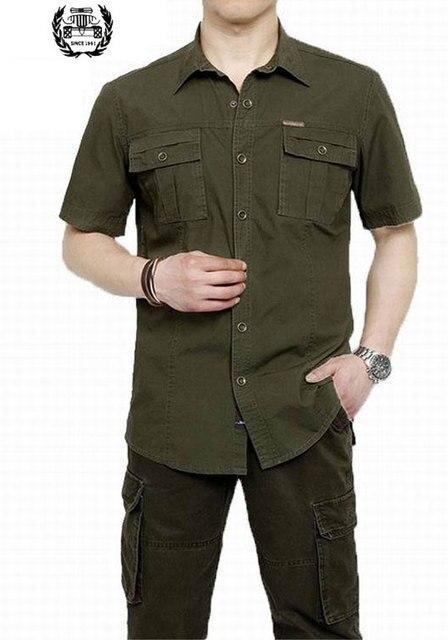 Più il Formato XXXXXL Uomini di Estate 100% Cotone Camicette Vestito di  Colore Solido Manica b35b1deb2ff