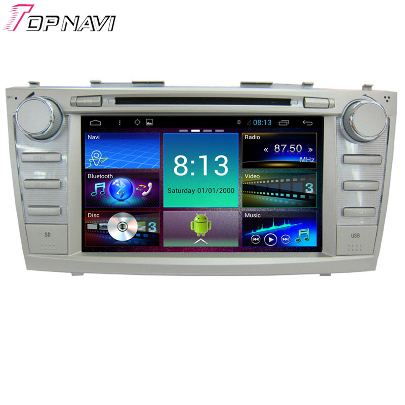 8'' Quad Core Android 4.4.4 Car GPS For Toyota Camry-2011 With 16GB Flash Mirror Link Stereo Audio Radio DVD Map Free Shipping