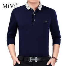 MiVi 2017 Fashion Long Sleeve Polo Shirt Men Turn-down Collar Solid Color Male T Shirt Polo Autumn Winter Casual Shirts For Men