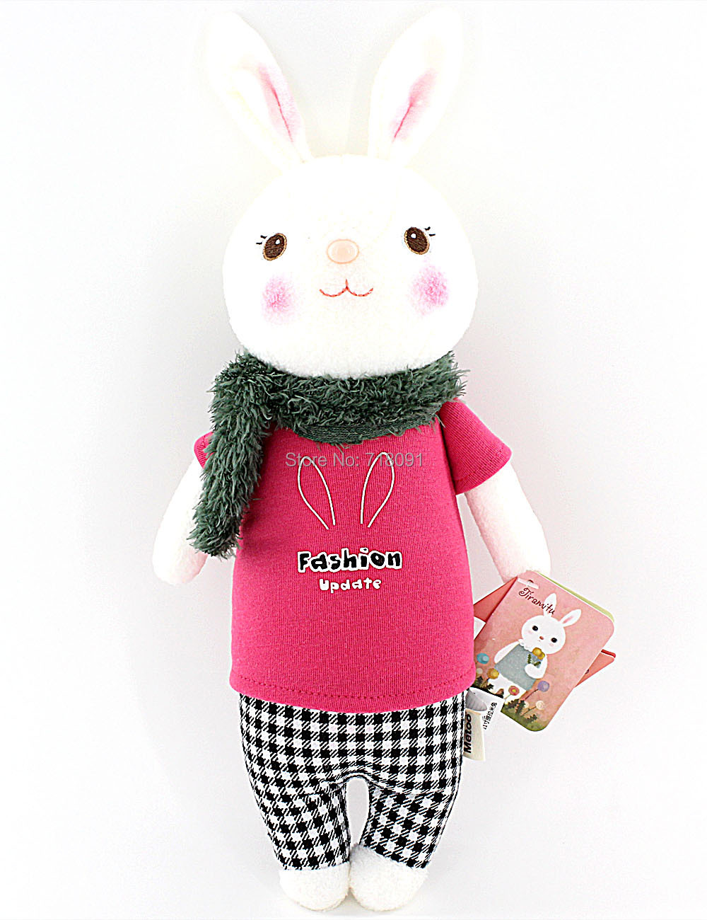 "Stuffed Toy Bunny Plush Rabbit,Metoo Dolls for Girl's Gift,14"",8PCS/LOT"