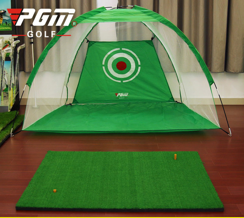 ФОТО single Golf tent 200*140cm PGM Indoor golf practice net swing combating cage Indoor Exercise Child Adult golf practice tent