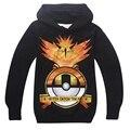 Pokemon clothes sweatshirt boys hoodies kids sweatshirt pokemon tops children hoodie teenager 2017 spring new child shirt teen