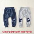 2016 nueva Otoño Invierno cálido terciopelo niños pantalones de harén pantalones de algodón de moda alta calidad del bebé niños pantalones de las muchachas 1-4 años niños pant