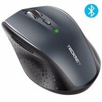 TeckNet Bluetooth עכבר אלחוטי 2.4 גרם 2600/2000/1600/1200/800 DPI למחשב נייד למחשב נייד מחשב