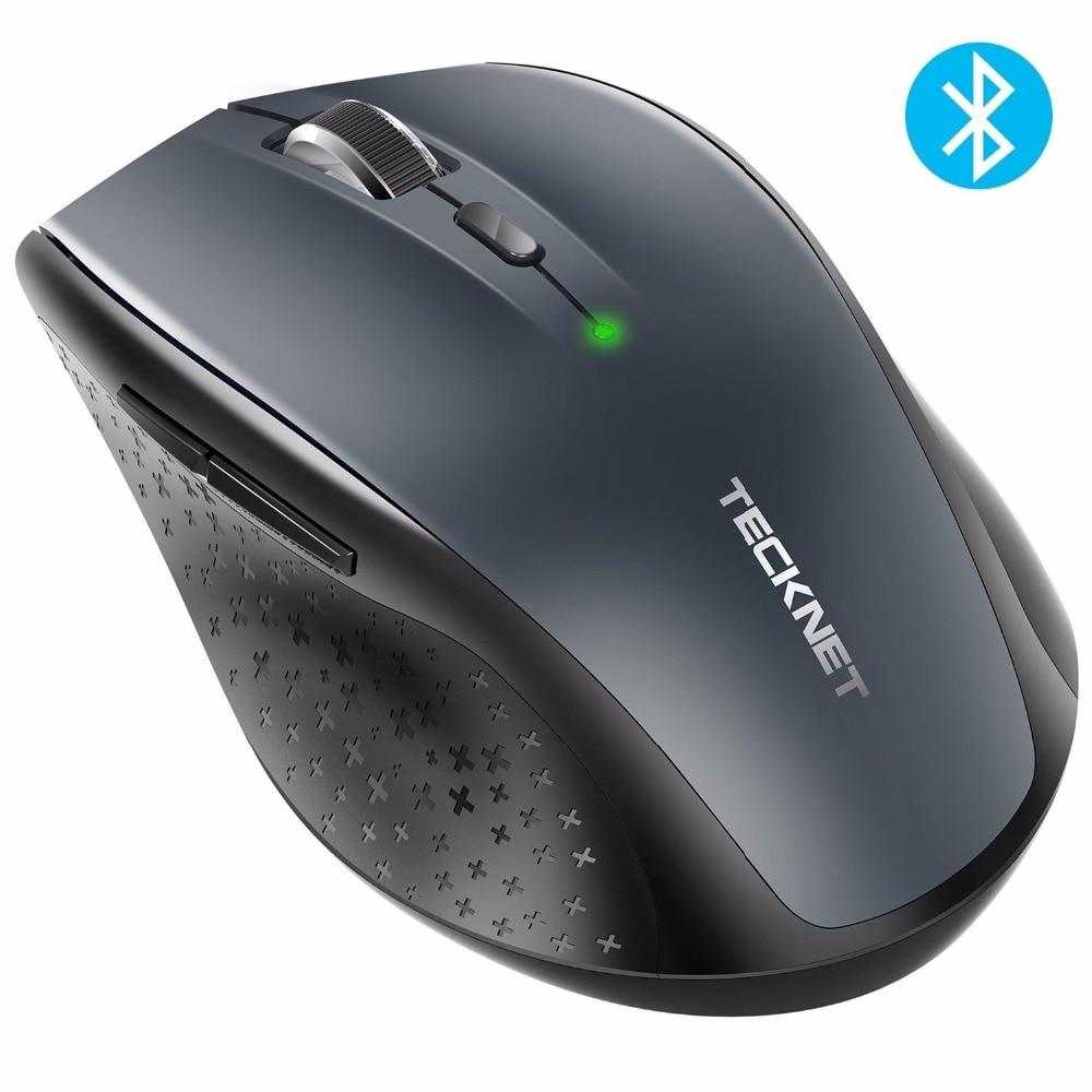 TeckNet Bluetooth ratón inalámbrico 2,4g 2600/2000/1600/1200/800 dpi para ordenador portátil PC ordenador