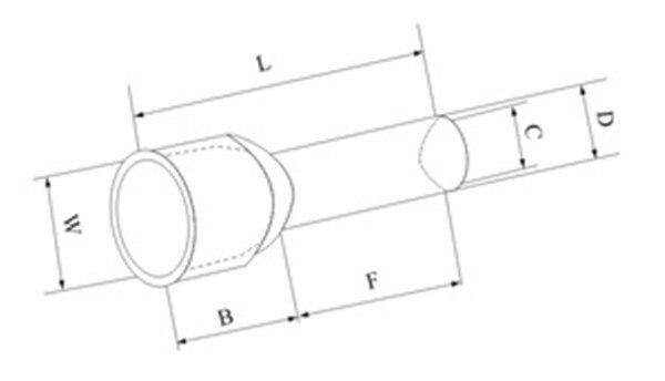 4 awg 25mm2 fio terminal cabo de duplas e25 16 01