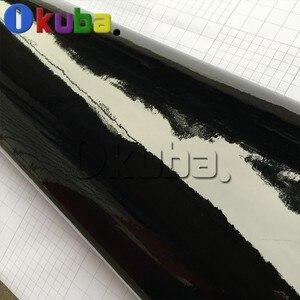 Image 4 - Filme vinílico para embrulho de carro, super brilhante, preto, envoltório brilhante, rolo brilhante, à prova d água, estilo de carro, vinil, 1.52*30m/rolo de rolo