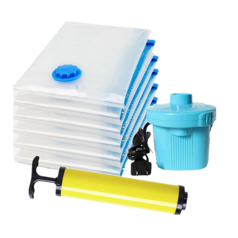 Boxi Vacuum Bags For Clothes Transparent Small Bag Closet Organizer Travel Storage Bag Zip Lock Plastic