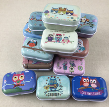32pcs/lot New Arrival Cute Candy Color Mini Storage Box Jewelry Box Tin box(China)