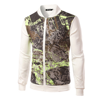 Personality Men's Fashion Jacket Floral Printed Cardigan Jacket Casual Jacket For Men Slim Fit  B3144