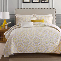 CHAUSUB Cotton Bedspreads Quilt Set Coverlet 3 Piece Washed Quilts For Bed Cover Pillowcase Queen Size Summer Quilted Blankets