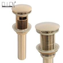 Ванной бассейна раковина дренажный Pop Up золотой Готовые Медь ванной частей аксессуары кран ELF11G