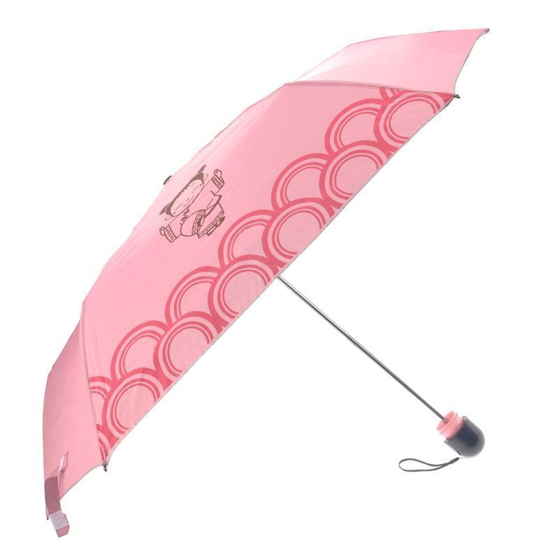 2pcs Handmade Cute Folding Umbrella Sunny Rain Doll Accessories Outdoor Pink
