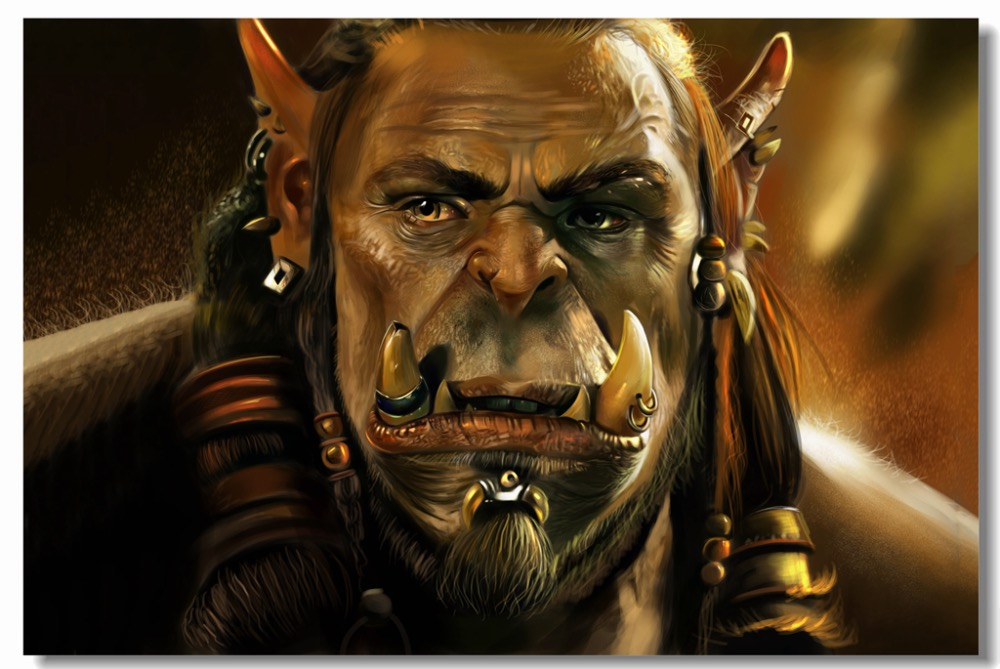 Us 575 28 Offcustom Canvas Wall Paintings World Of Warcraft Poster Warcraft Durotan Wall Stickers Mural Wow Wallpaper Bedroom Decals 0428 In