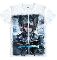 Nieuwe Metal Gear Solid 5 t-shirt Cosplay Metal Gear Rising Revengeance Diamant Honden Mannen t-shirt Vrouwen melk zijde Losse Tees tops
