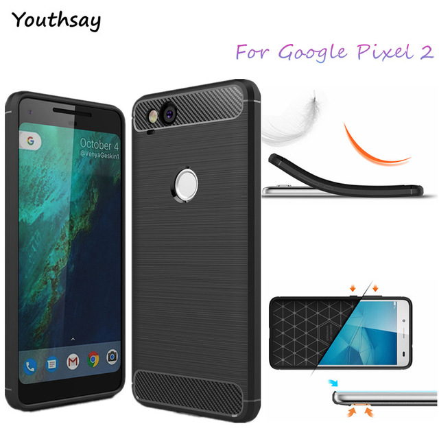 Youthsay For Cover Google Pixel 2 Case Shockproof Soft Rubber Silicone Phone Case For Google Pixel 2 Cover For Pixel2 Fundas Bag
