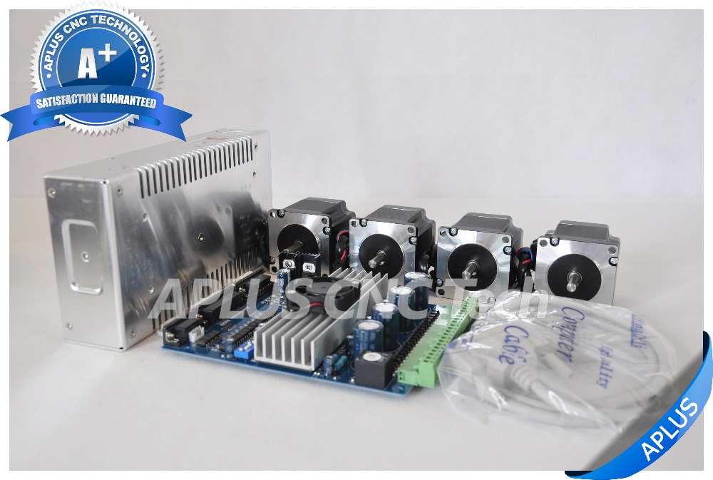 4 axis cnc kit nema 23 155oz in stepper motor tb6560 for 3 axis nema 23 stepper motor driver controller cnc kit