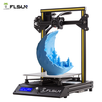 New Metal Flsun F4 3D Printer High Precision Pre assembly Large Size FLSUN 3D Printer Heated Bed With SD Card One Roll Filament