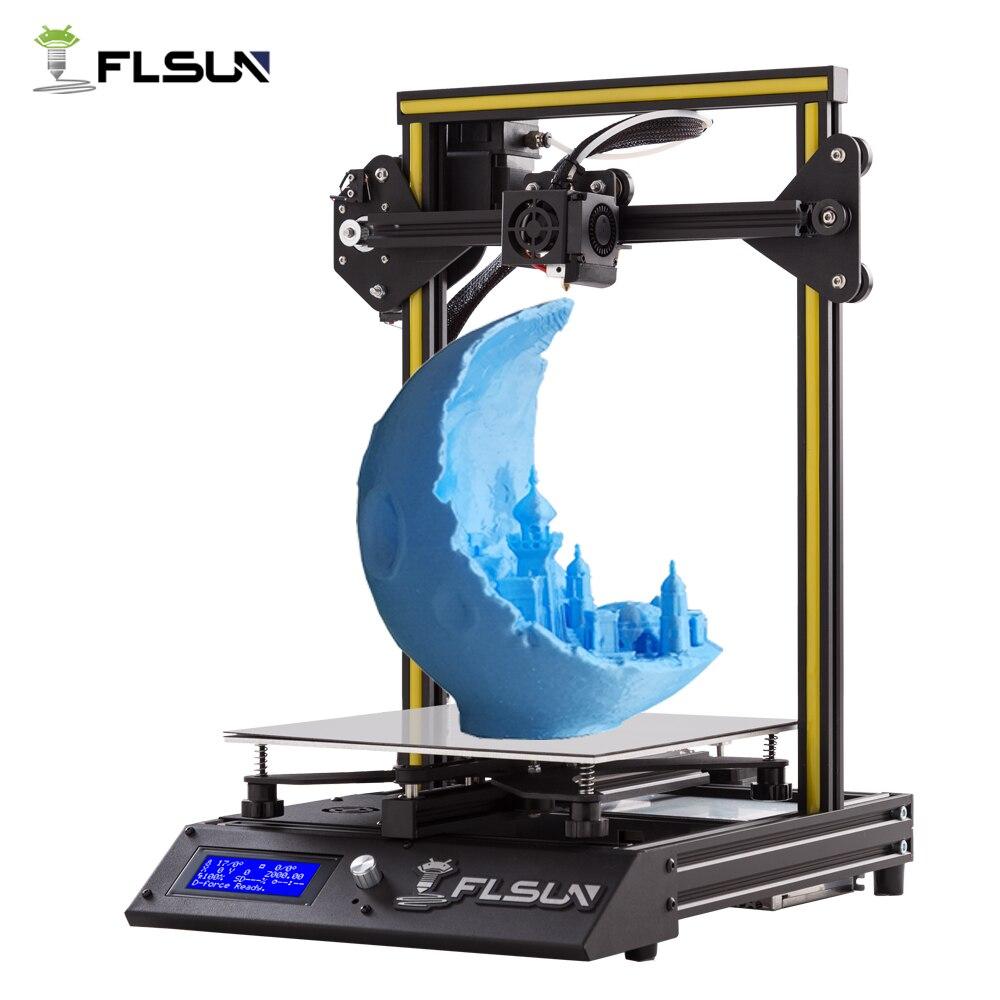 New Metal Flsun-F4 3D Imprimante Haute Précision Pré-assemblée Grande Taille FLSUN 3D Imprimante Chauffée Lit Avec SD Carte un Rouleau Filament
