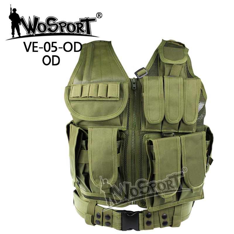 WoSporT Tactical Airsoft Paintball Wargame Hunting Combat Molle Vest Protective Safety Clothing Outdoor Training Mesh Waistcoat