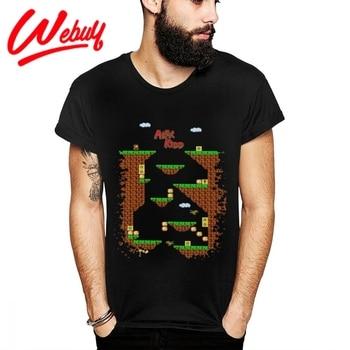 Calidad de impresión Alex Kidd en el mundo milagro algodón saludable camiseta...