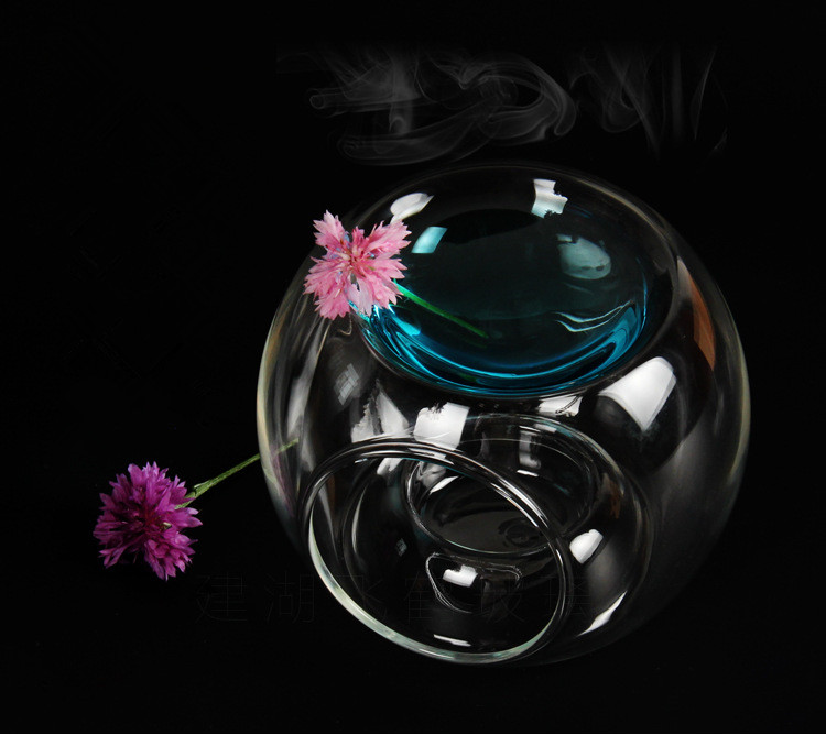 1PC New Hot Glass Oil Burner Candle Aromatherapy Oil Lamp Home Decorations Aroma Furnace Candle Holder LD 151 in Candle Holders from Home Garden