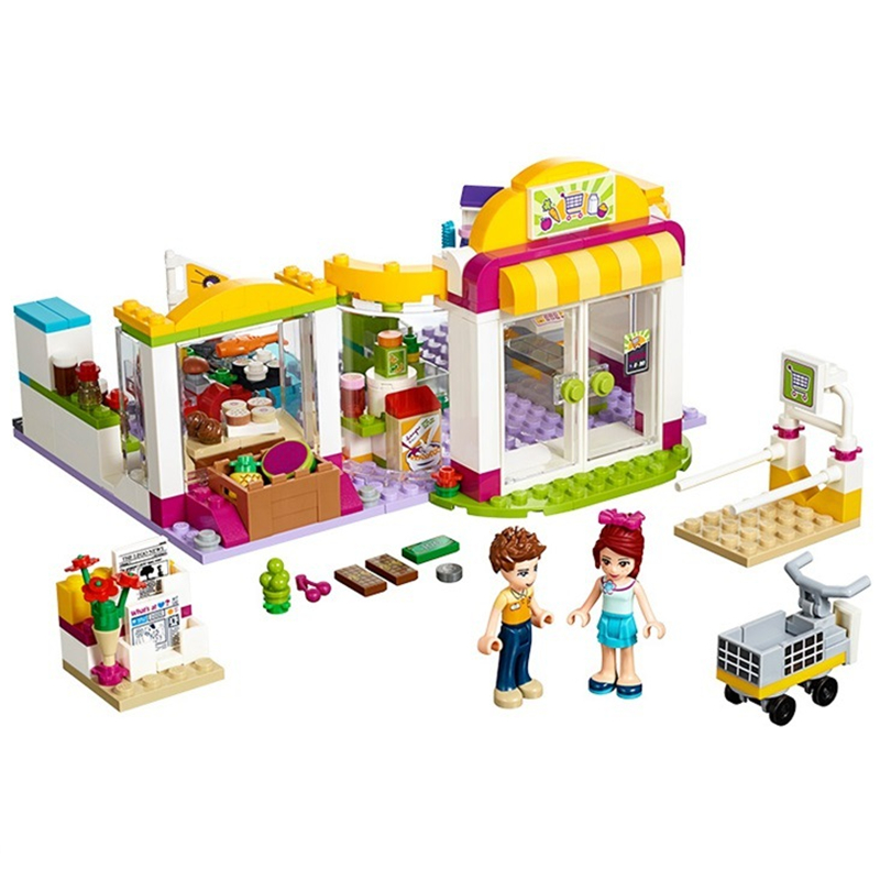10494 Compatible with Lepin Friends Heartlake Supermarket 41118 Building Bricks Emma Mia Figure Toy For Children 10494 city supermarket building bricks blocks set girl toy compatible lepine friends 41118