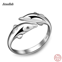 Dolphin 925 Sterling Silver Rings For Women Romantic Girls Party Lover Anniversary Rings Jewelry Anel Anillos