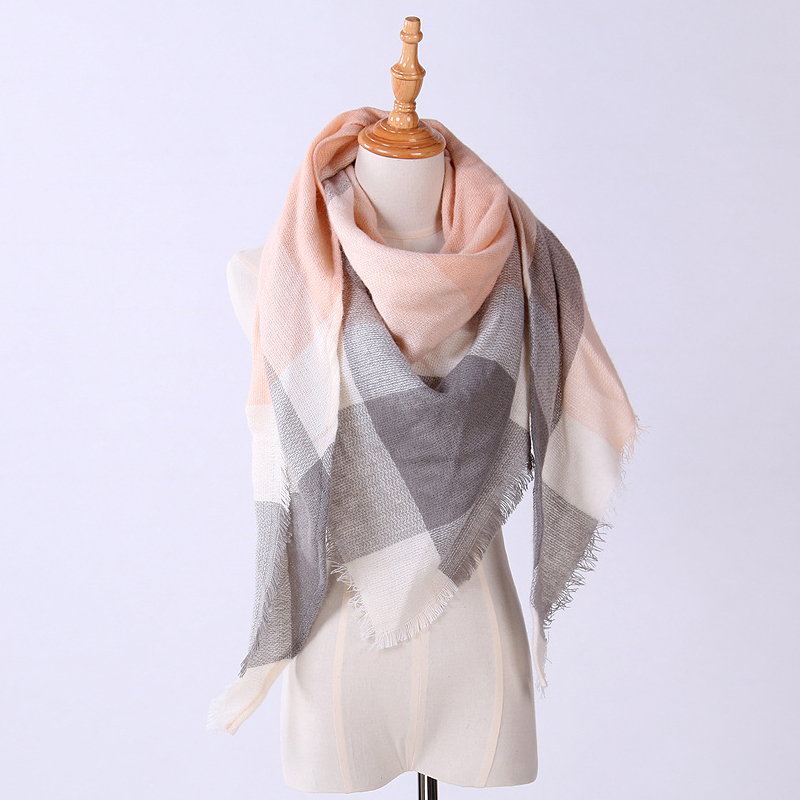 High Quality Brand New WomenS Scarf Classic Lattice Design Women Triangles Scarf Long Scarves Shawl Autumn Winter drop shopping