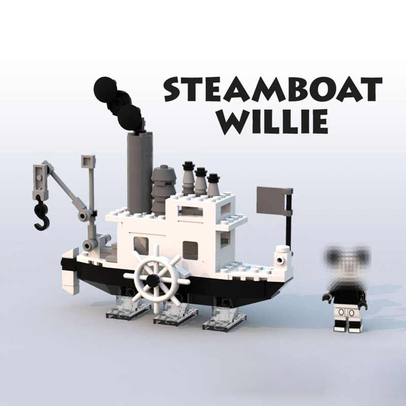 2019 New ideas Steamboat Willie Movie fit for 21317 Building Blocks Bricks toys for children Gifts Model Kid Christmas Gift