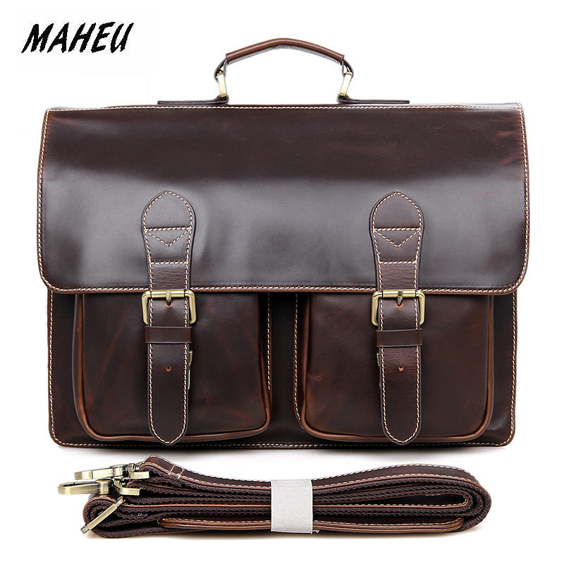 MAHEU Highest Quality Leather Briefcase Business Bags Shoulder Laptop Bags 100% Real Leather Cowskin Man Male Leather BriefcaseMAHEU Highest Quality Leather Briefcase Business Bags Shoulder Laptop Bags 100% Real Leather Cowskin Man Male Leather Briefcase